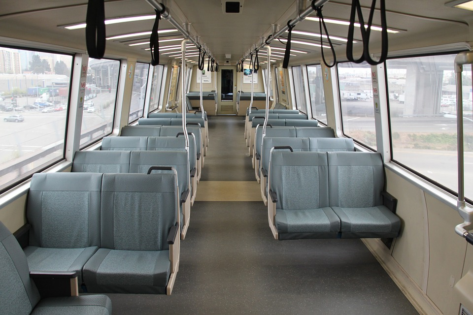 Bart, Car, Interior, Train, Transit, Seating, Empty
