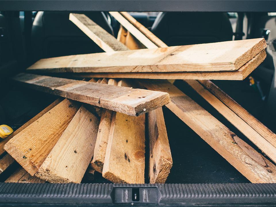 Boards, Wood, Trunk, Car, Wooden, Timber, Planks