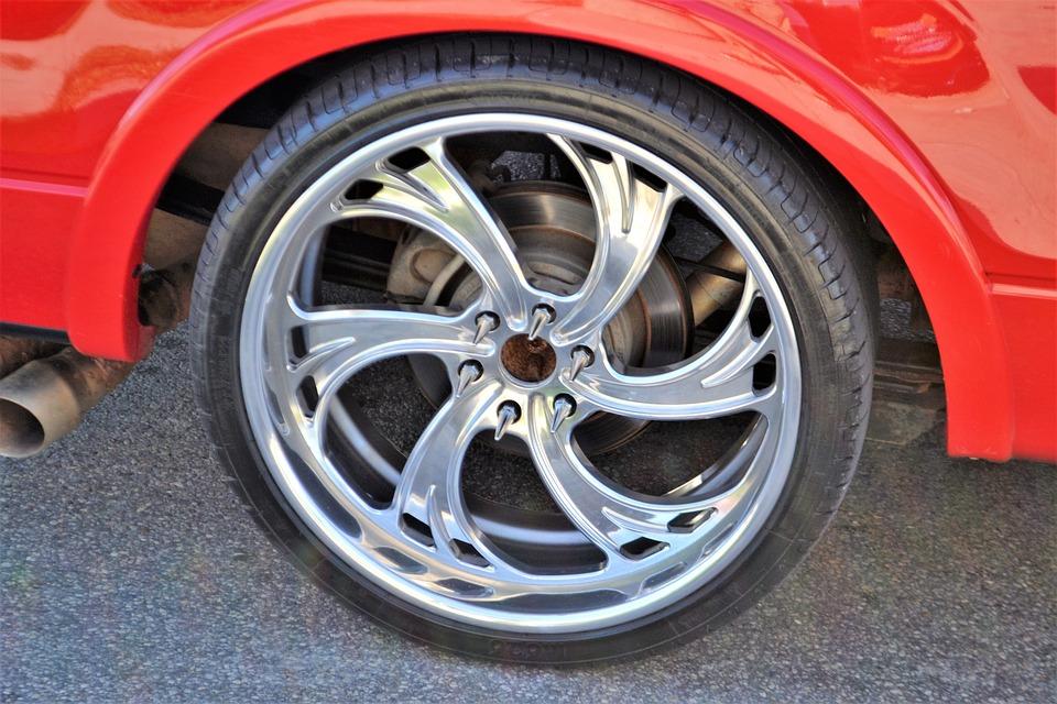 Free Photo Car Wheel Red Sports Car Custom Rims Rim Silver Max Pixel