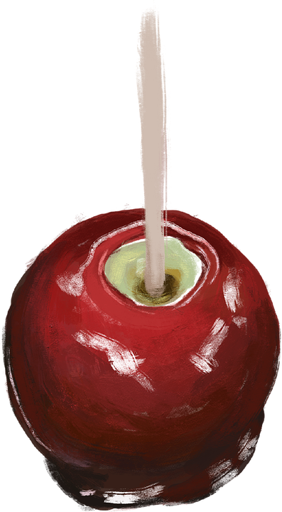 Candy Apple, Caramel Apple, Toffee Apple, Drawing