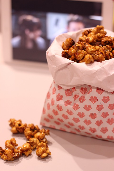 Pop-corn, Caramel, Snack, Caramelized, Golden, Tasty