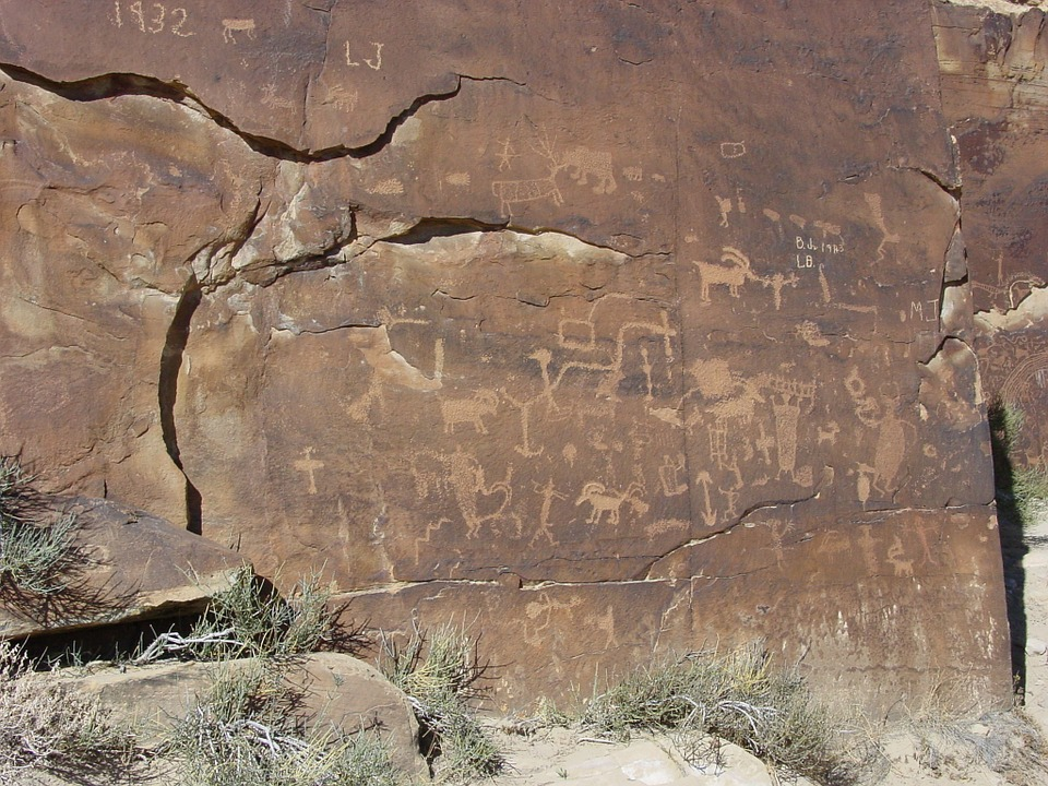 Petroglyphs, Nine-mile Canyon, Carbon County, Utah