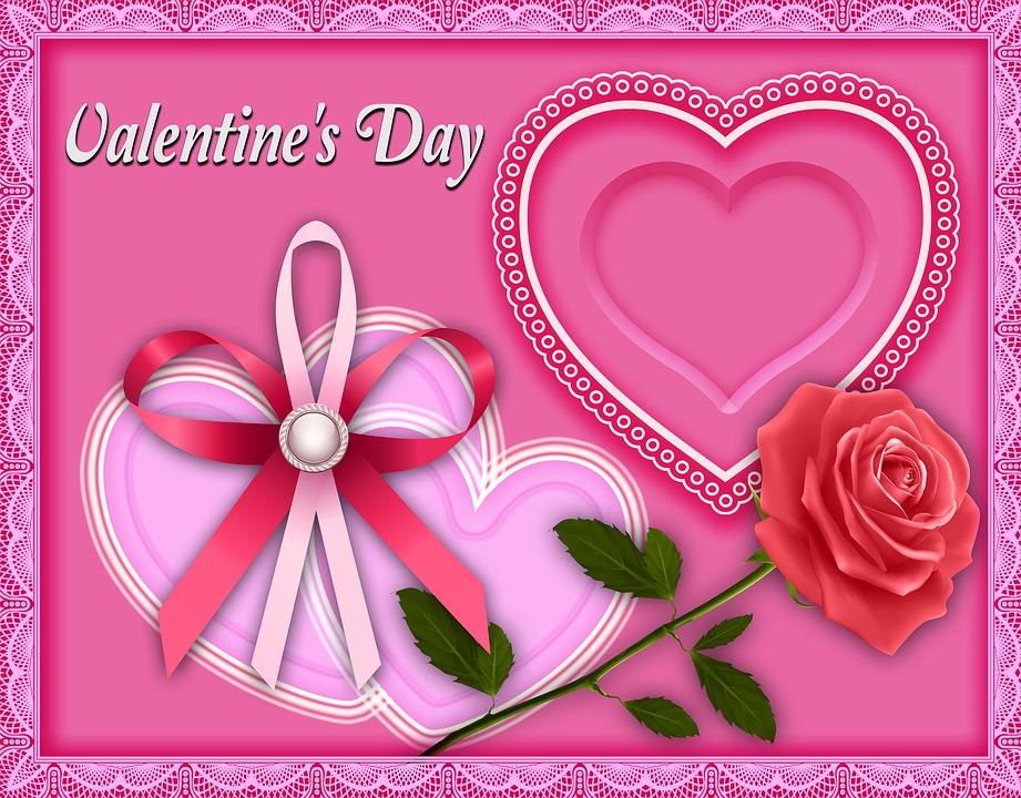 Design, Valentine, Heart, Background, Card, Pink, Color
