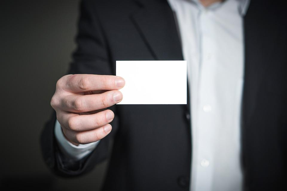 Free photo Card Business Business Card Hand Suit Man Holding - Max Pixel