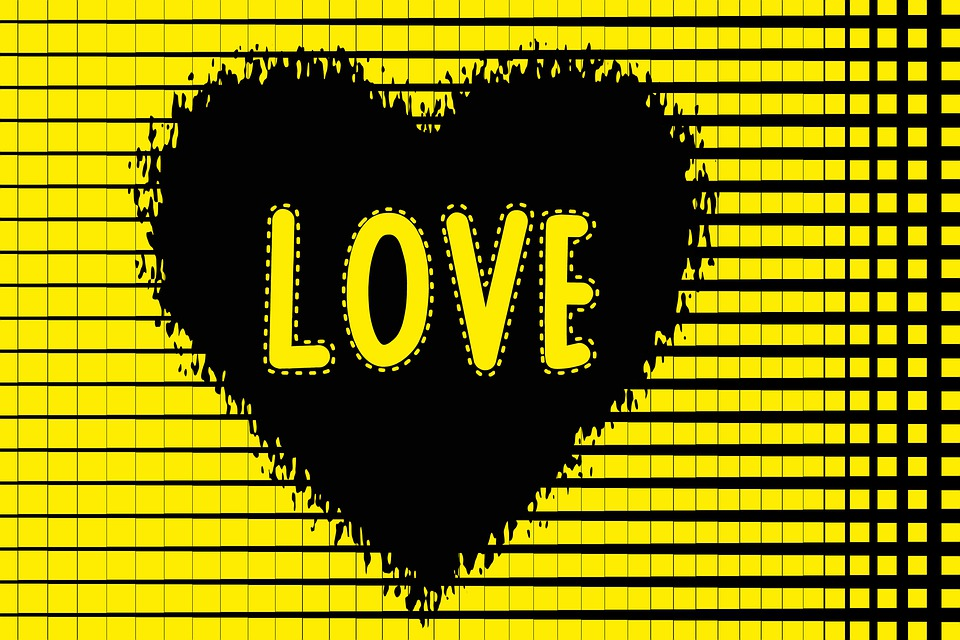 Valentine, Heart, Love, Design, Card, Yellow, Romantic