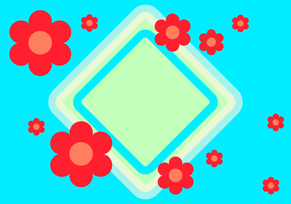 Flowers, Card, Decoration, Background, Decorative