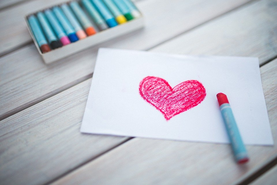 Heart, Card, Pastels, Figure, Valentine's Day, Love