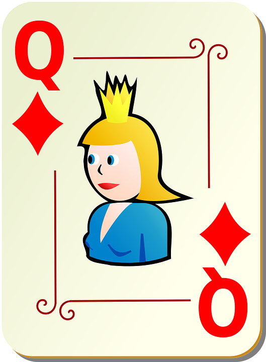 Queen, Diamonds, Playing Cards, Poker, Card, Games