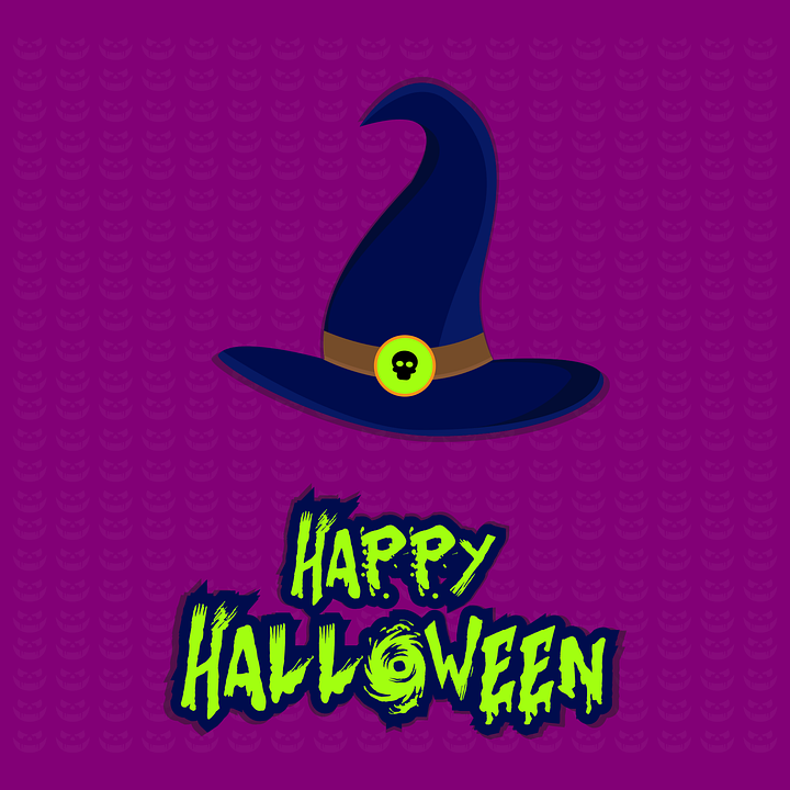 Halloween, Card, Happy Halloween, Witch Hat, Greeting