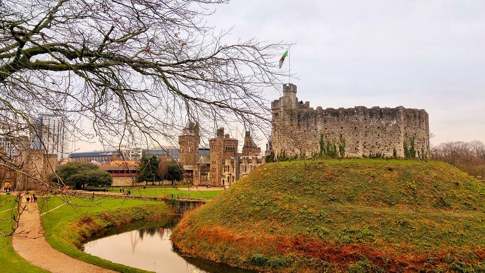 Cardiff, Castle, Uk, Norman Keep