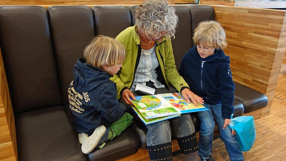 For Reading, Granny, Grandmother, Grandchild, Carefully