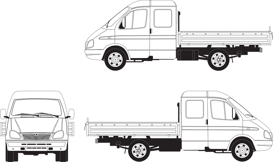 Gas, Cargo Gazelle, Truck, Shipping, Load, Vector