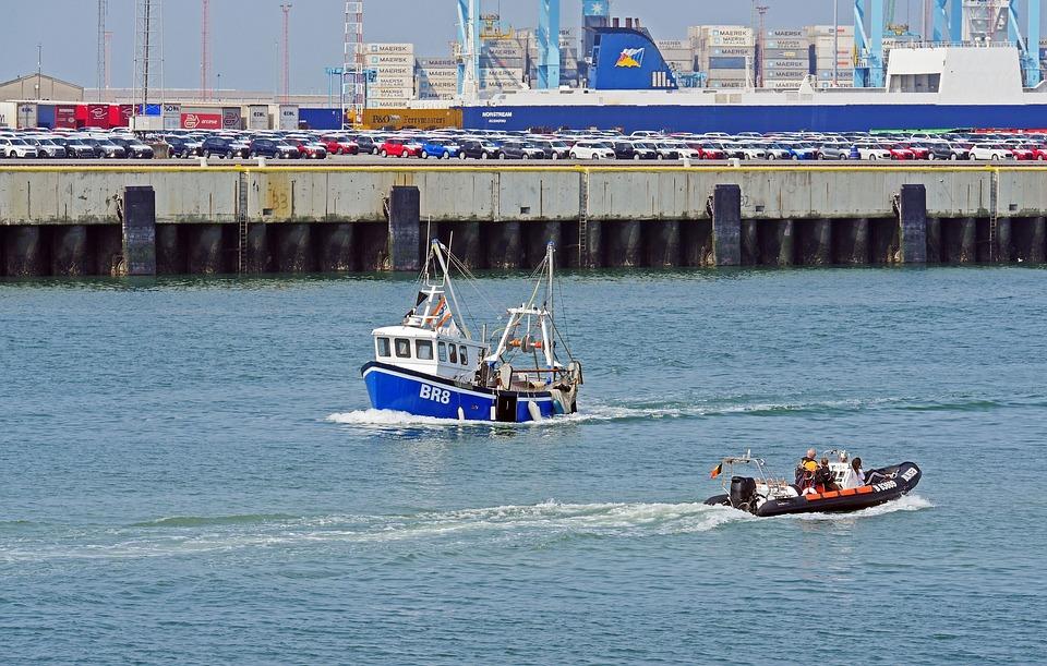 Port Of Zeebrugge, Cargo Handling, New Cars, Pkw, Truck
