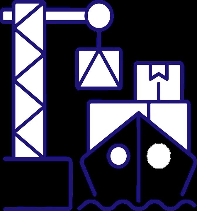 Cargo Ship, Port, Icon, Crane, Cargo, Shipping, Harbor