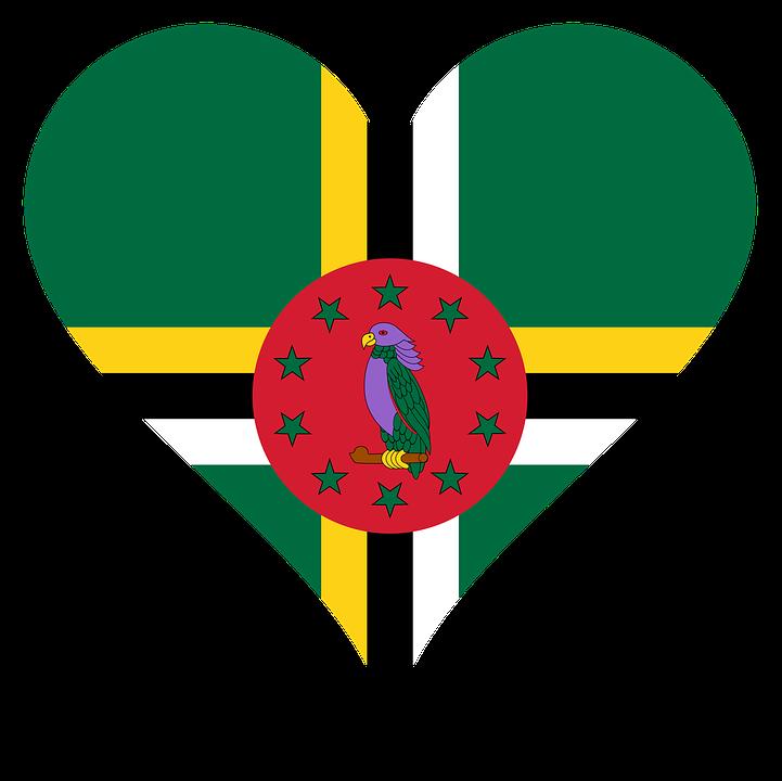 Heart, Love, Flag, Antilles, Island, Caribbean, Parrot