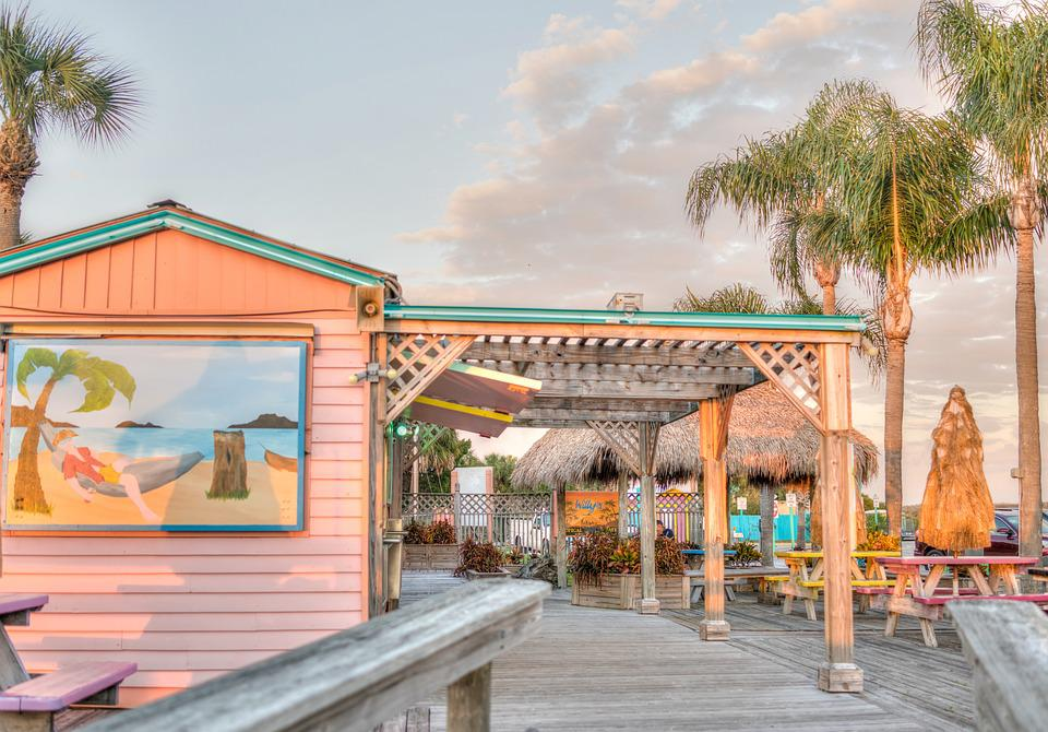 Beach, Florida, Restaurant, Snack Bar, Caribbean