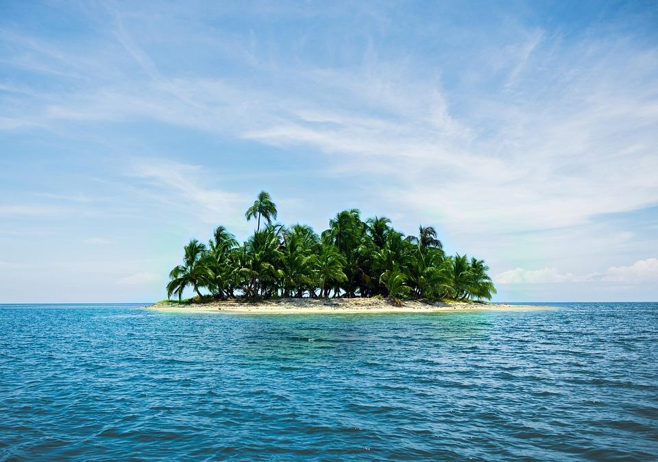 Island, Holiday, Caribbean, Palm Trees, Sand, Sea, Blue