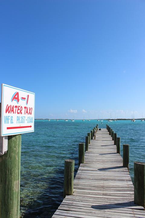 Water, Wharf, Sun, Caribbean, Ocean, Shore, Holiday