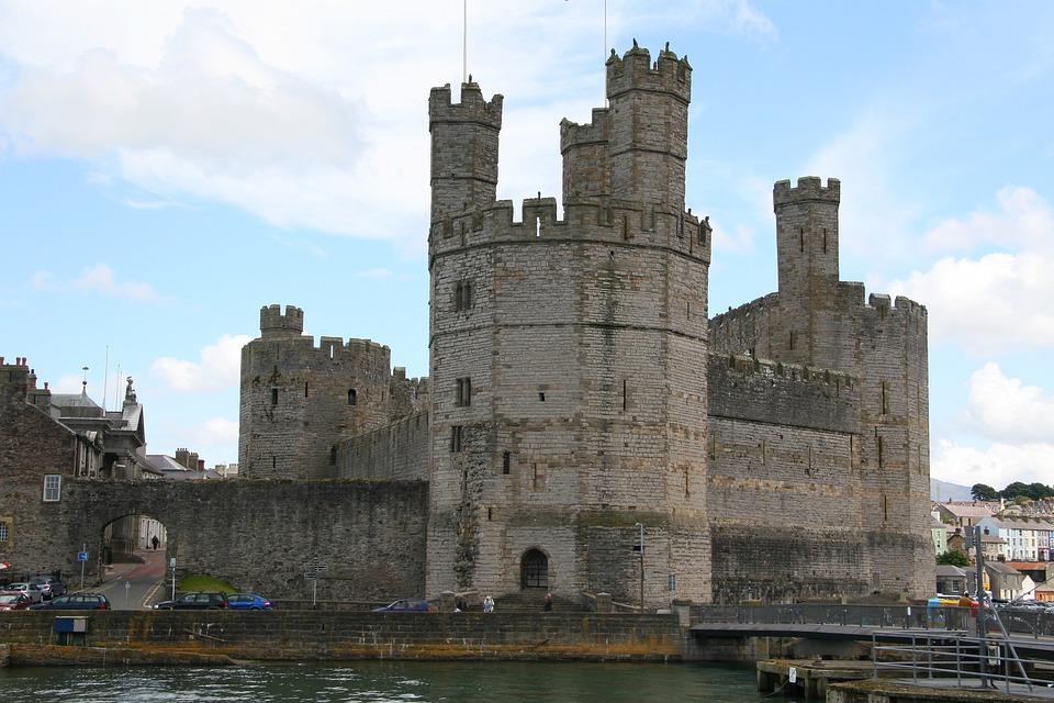 Castle, Carnarvon, Wales, Building, Architecture