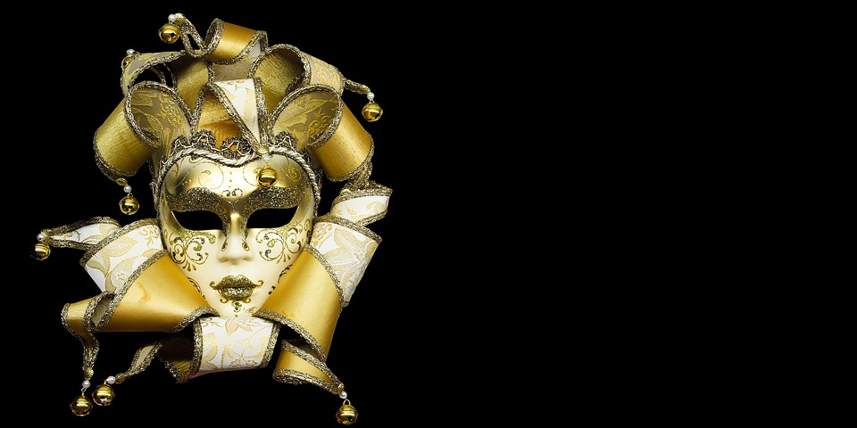 Carneval, Carnival, Mask, Golden, Ornament, Fantasy
