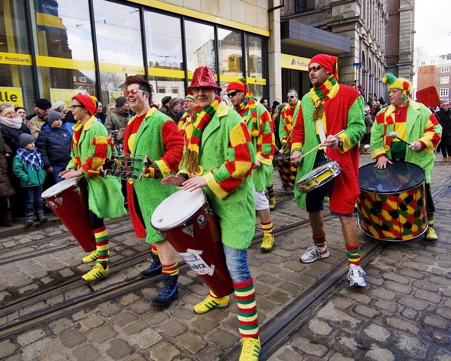 Carnival, Bremen, Celebrate, Color, From, Colorful