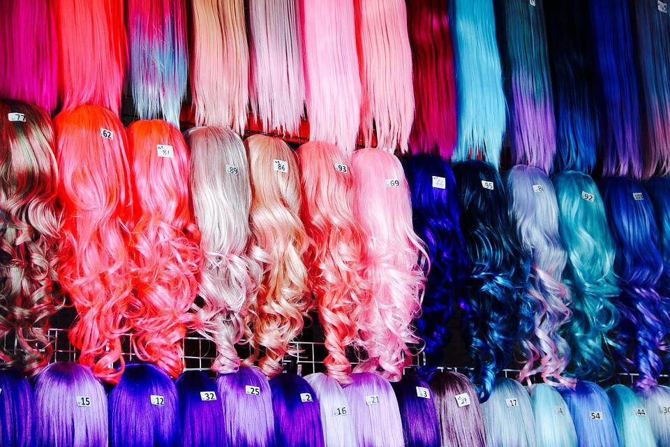Wigs, Colorful, Dress, Costume, Carnival