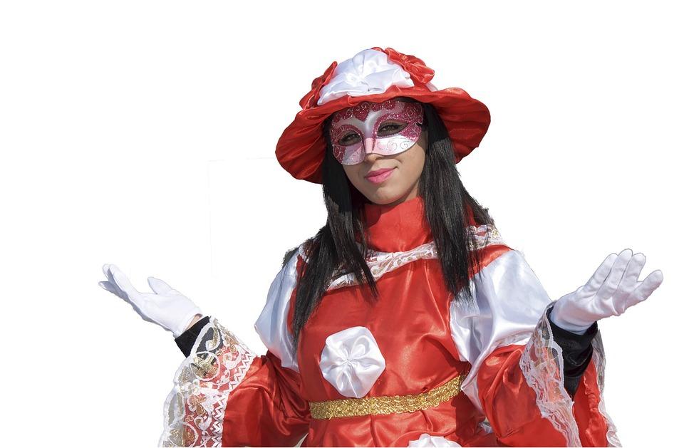 Venice, Mask, Costume, Carnival, Woman