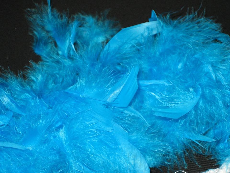Feather Boa, Boa, Blue, Perlon, Carnival, Panel