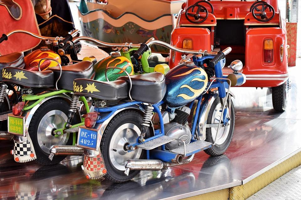 Carousel, Motorcycle, Children Motorcycle