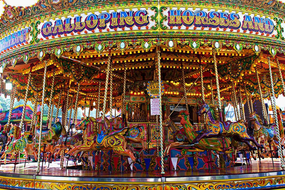 Carousel, Ride, Horses, Fairground, Entertainment