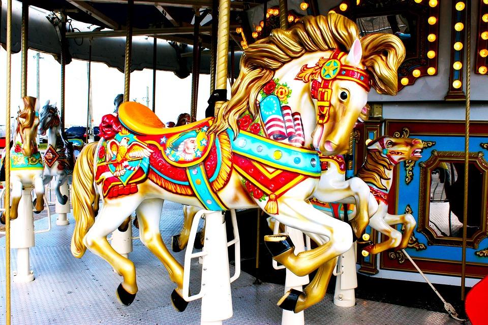 Carousel, Horse, Merry-go-round, Amusement, Ride