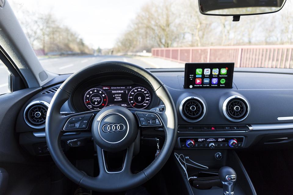 Free Photo Carplay Audi A3 Steering Wheel Interior Auto Max Pixel