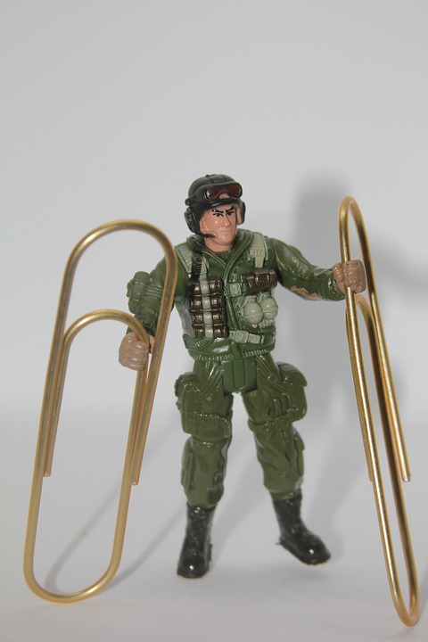 Paperclip, Soldier, Toy, Military, War, Carrier
