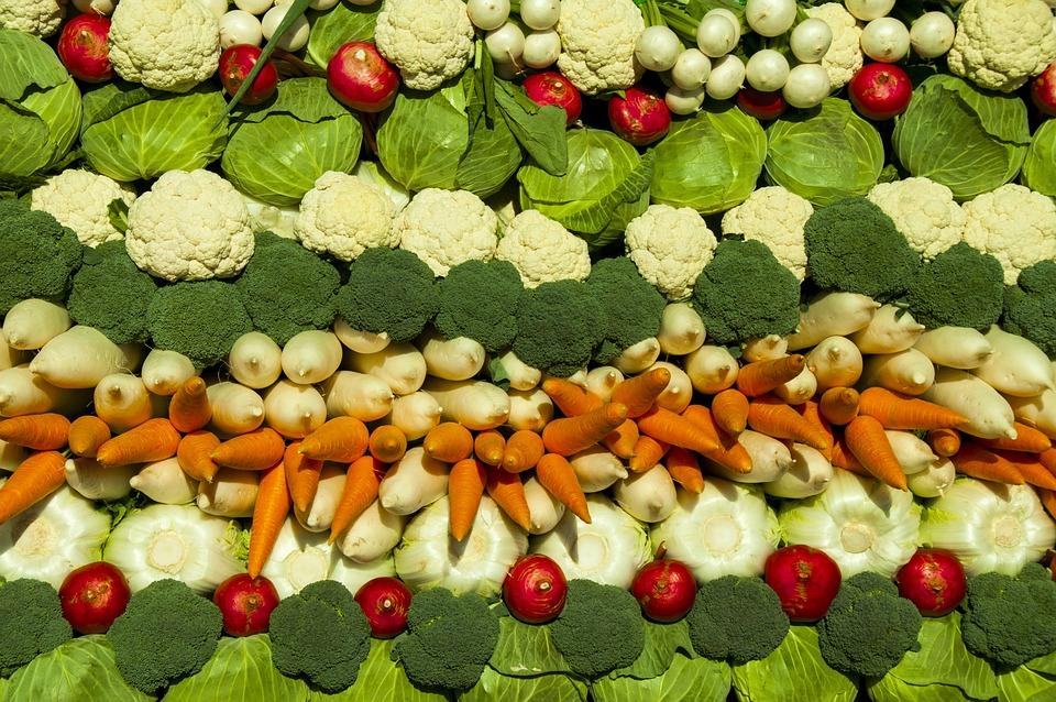Vegetables, Cabbage, Carrot, Broccoli, Radish, Cub