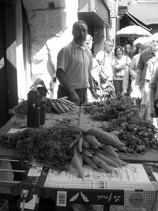 Market, Vegetables, Fair, Spring, Crazy, Bazar, Carrots