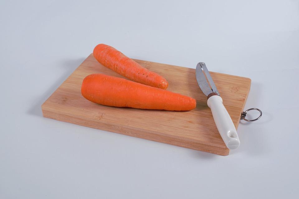 Carrots, Peeler, Chopping Board, Vegetables, Board
