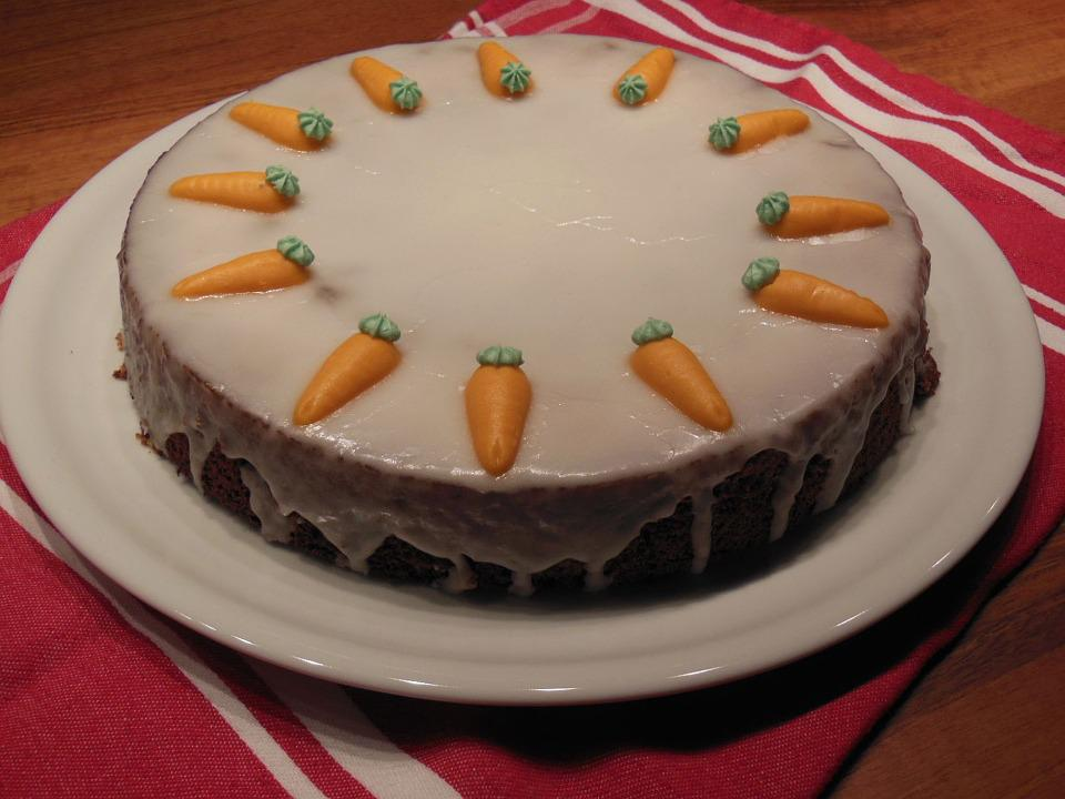 Carrots, Cake, Bake, Icing Sugar, Delicious, Eat