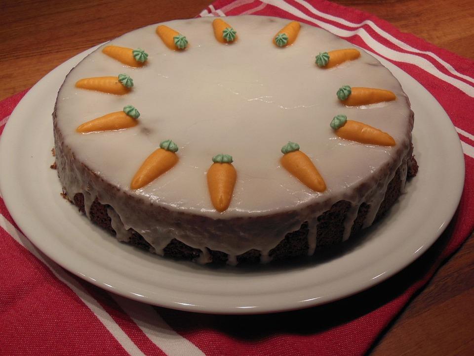 Carrots, Cake, Bake, Icing Sugar, Delicious, Eat