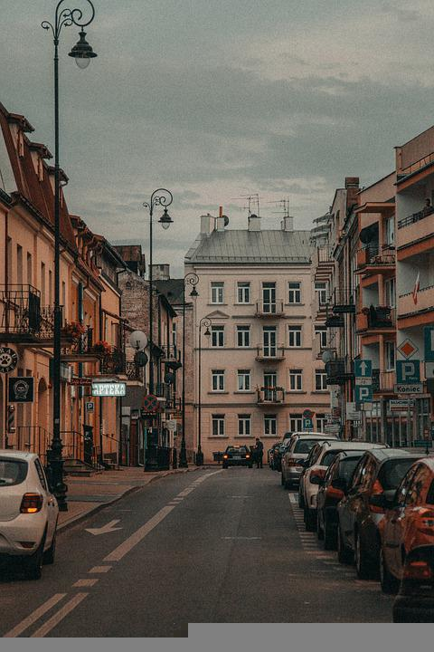 Street, Buildings, Town, Road, Cars, Vehicles, Houses