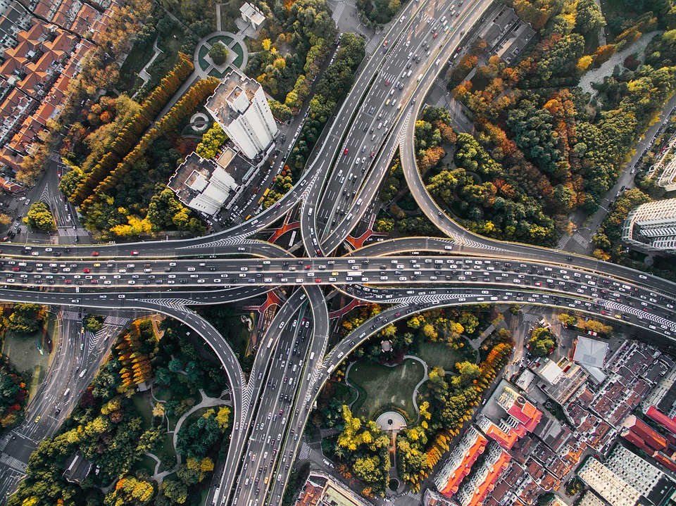 Architecture, Buildings, Cars, City, Cityscape, Highway