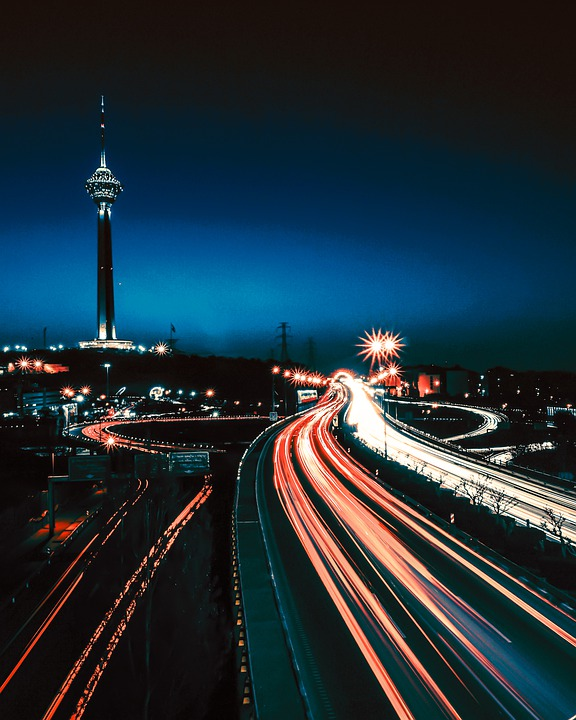 Night, Road, Cars, Light, City, Traffic