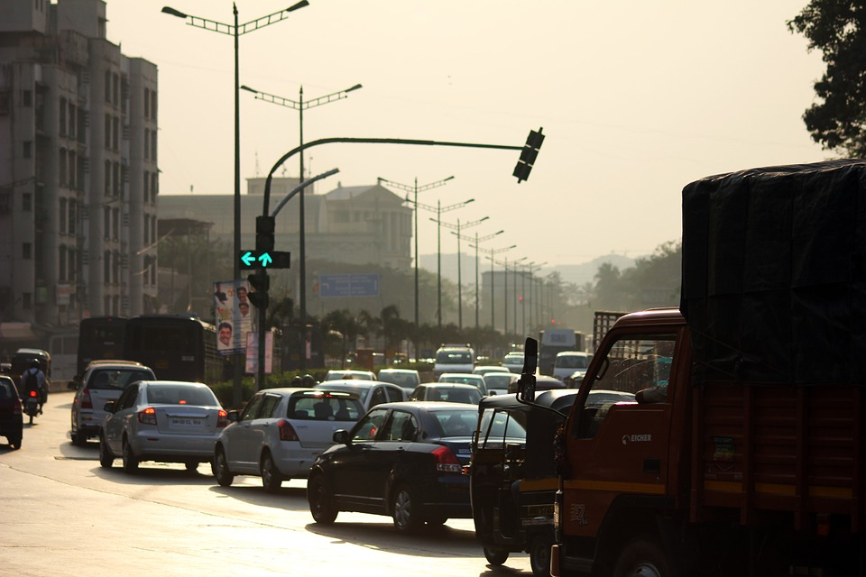 Mumbai, Traffic, Signal, Cars, India, Traffic Jam