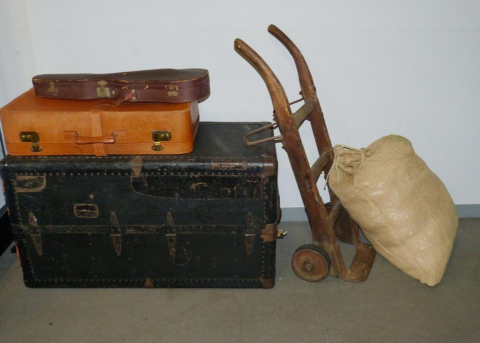 Luggage, Cart, Sack Truck, Bag, Historically, Loads