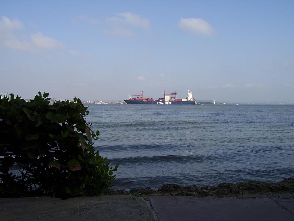 Cartagena, Colombia, Beach, Caribbean, Ocean, Sea, Ship