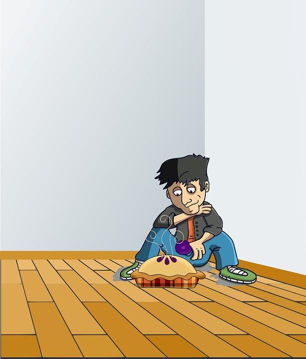 Cartoon, Rhyme, Nursery, Children, Childhood, Boy, Pie
