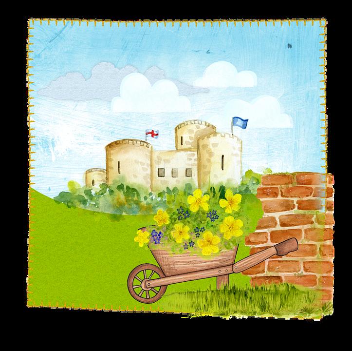 Castle, Fantasy, Cartoon, Medieval, Building, Fairy