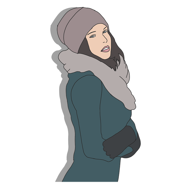 Cartoon Character, Female, Beautiful, People, Winter