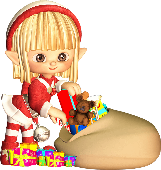 Blonde, Cartoon, Christmas, Comic Characters, Elf