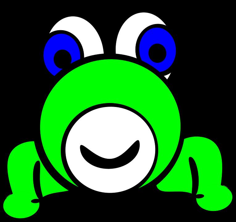Frog, Animal, Amphibian, Green, Face, Cartoon, Funny