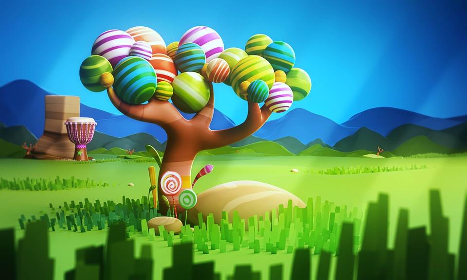 Cartoon, 3d, Cartoon Background, Landscape, Tree